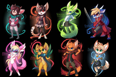 Chibis Friend Squad by Mahsira
