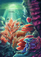 Coral Reef Residents by Mahsira