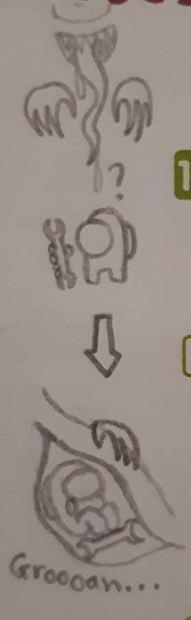 Mini sketch Among Us vore