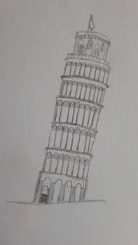 Mini sketch #2 Leaning Tower Of Pisa