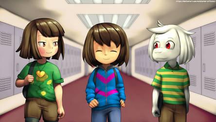 school kiddos by VoidLurker-Official