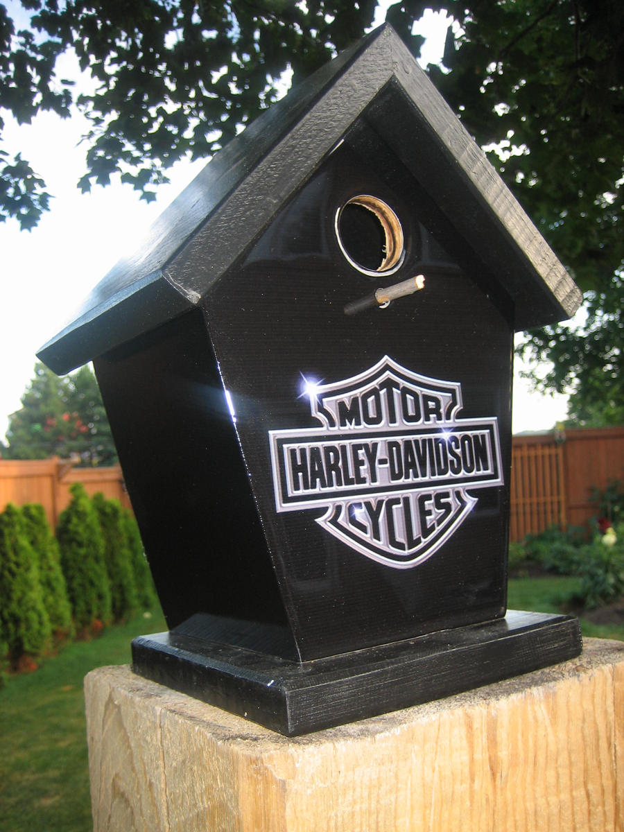 Harley Davidson Birdhouse by Jimshabitat