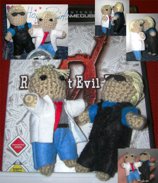 Wesker and Birkin dolls by nenco