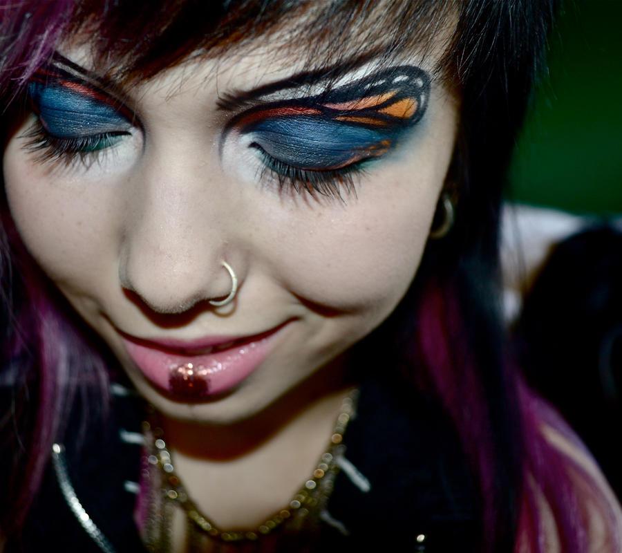 Butterfly eye makeup