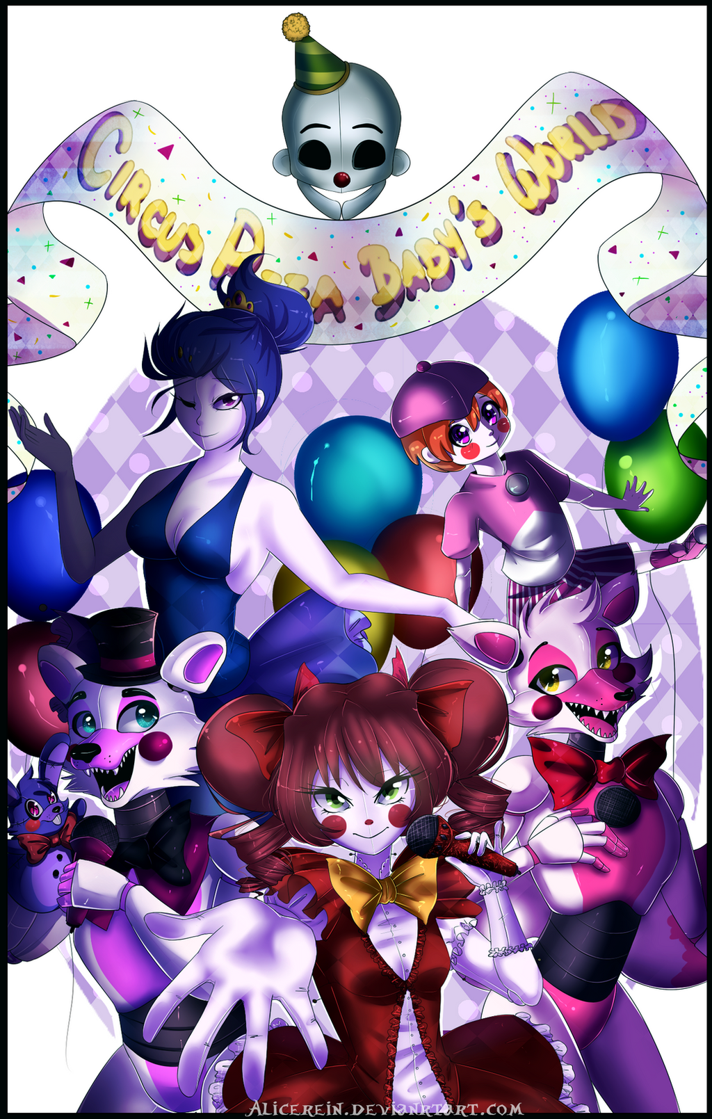 FNAF SL-Welcome to Circus Pizza Baby World by AliceRein on