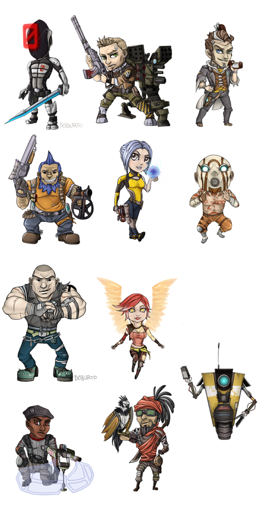 Borderlands Key Chains by Boburto