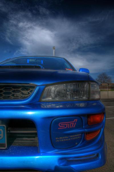 Blue Subaru WRX  STi GC8