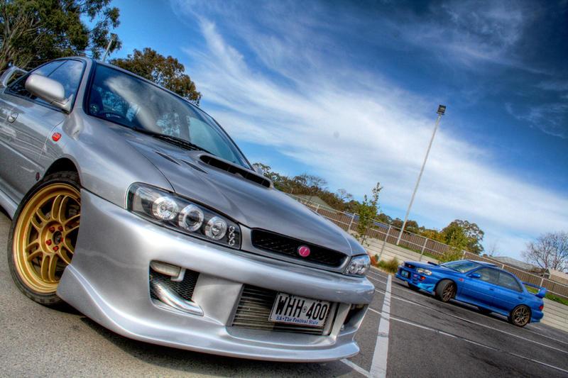 Silver Subaru WRX STi GC8
