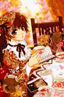 Mr. Kuma's Tea Time by Arehandora