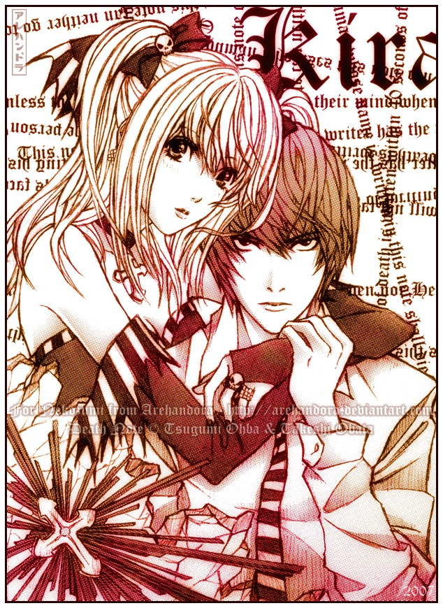 Death Note Death_Note____Misa_and_Raito___by_Arehandora