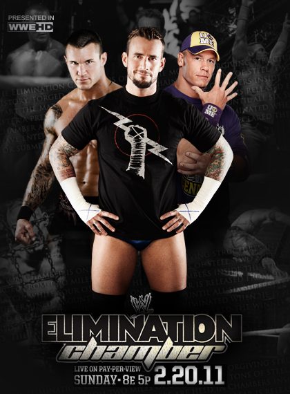WWE ELIMINATION CHAMBER POSTER by EnigmaZzZ