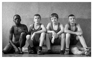 4 Wrestlers by jfphotography