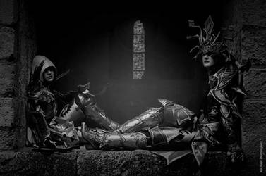 Diablo III...Demon Hunter and Wizard by SakuraFlamme