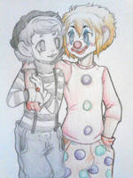 Clown And Mime by QuackingMoron