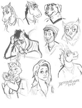 Bojack Horseman Sketches