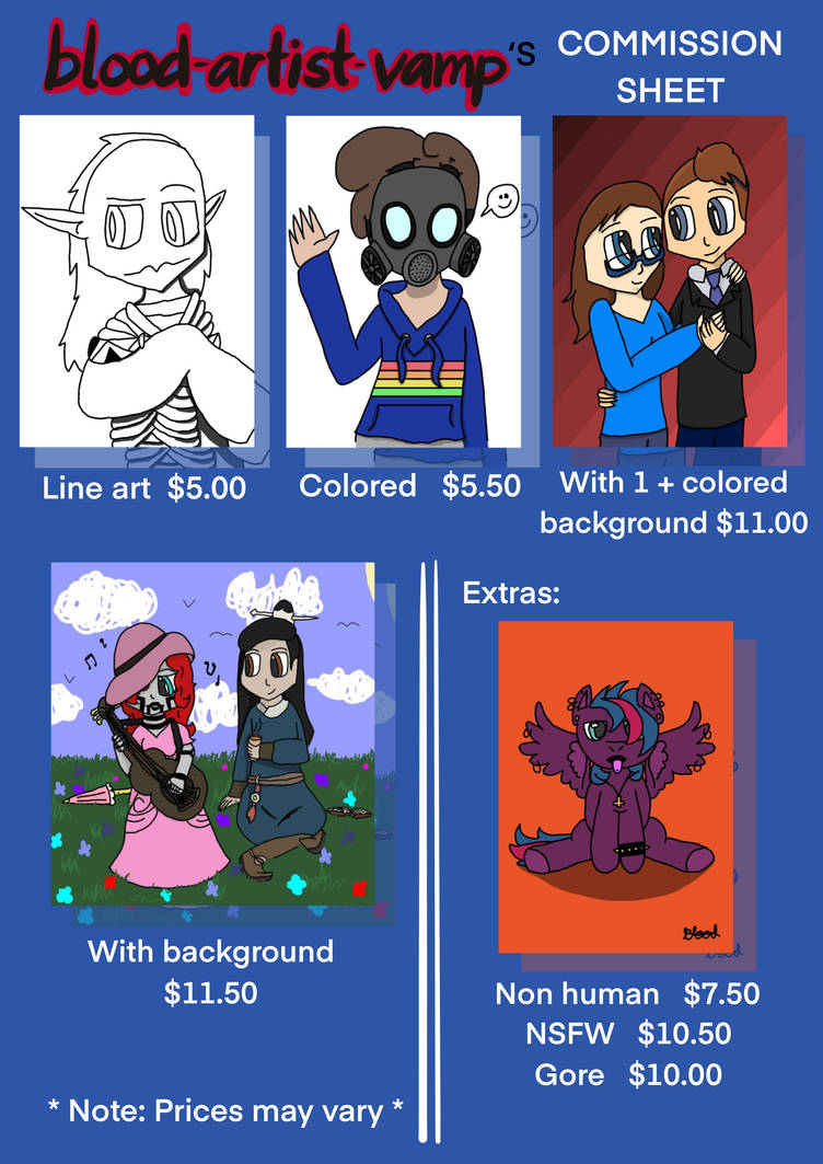 Commission prices  *Open*