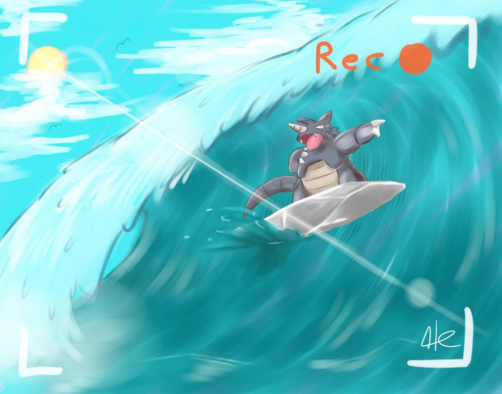Resultado de imagem para rhydon use surf
