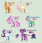 Mane Six Redesigns!
