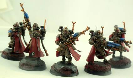 Skitarii Vanguard squad by Graywolf-101