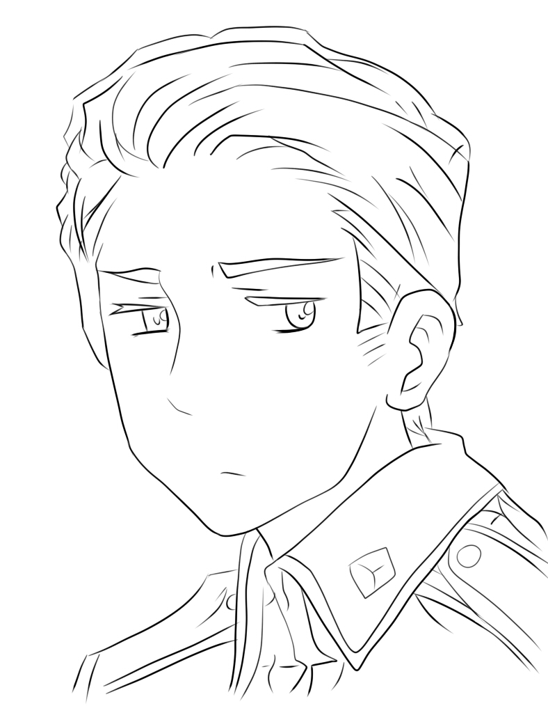 hetalia coloring pages - hetalia germany lineart by kidlat09 on deviantart
