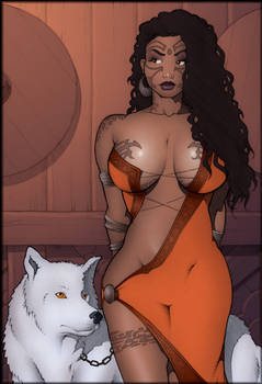 Sorceress And Wolf