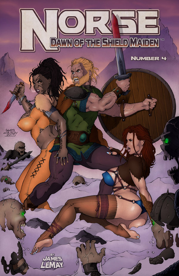 Norse E-book Number 4 Cover by James-LeMay-Graphix