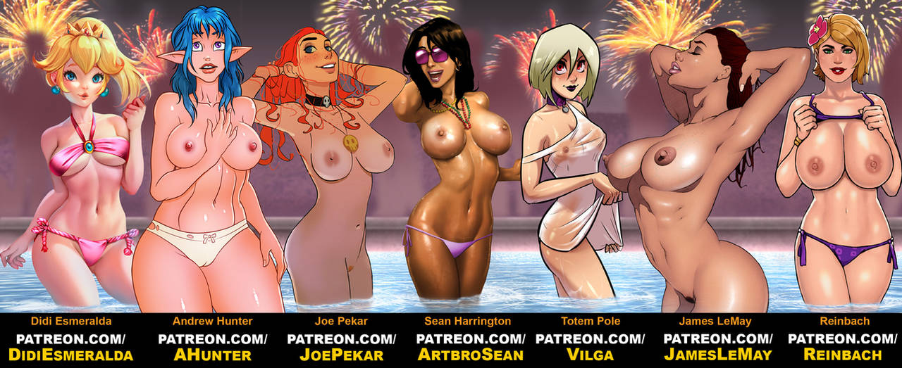 Wet and Wild New Year's Bash by James-LeMay-Graphix