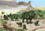 arrhinoceratops  albertosaurus