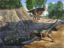 Tenontosaurus vs Deinonychus by atrox1