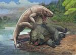 Inostrancevia vs scutosaurus