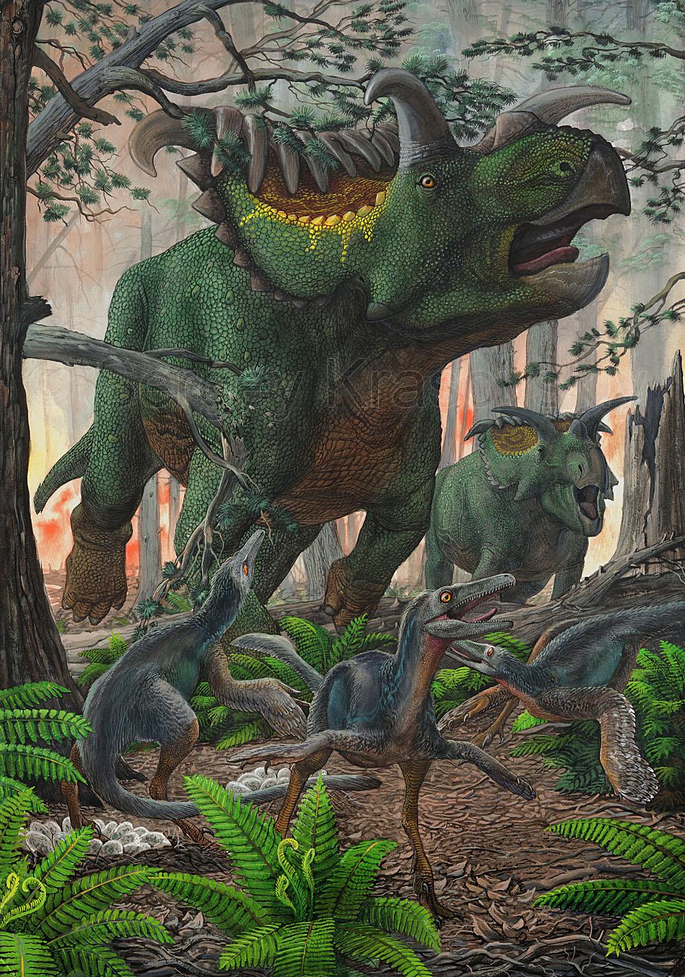 Kosmoceratops and talos by atrox1