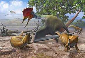 Bakonydraco  vs Ajkaceratops by atrox1