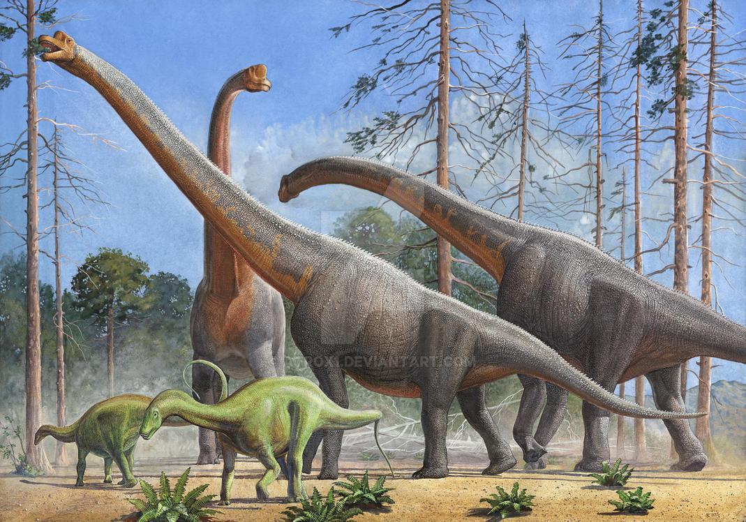 Giraffatitan And Dicraeosaurus by atrox1