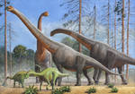 Giraffatitan And Dicraeosaurus