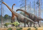 Giraffatitan And Dicraeosaurus