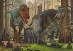 Edmontosaurus vs T-rex