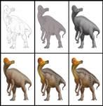 Corythosaurus creation process