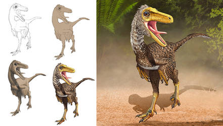 Troodon steps