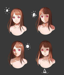 Simple Face Lighting Reference