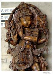 hindu lord Krishna by night-rider
