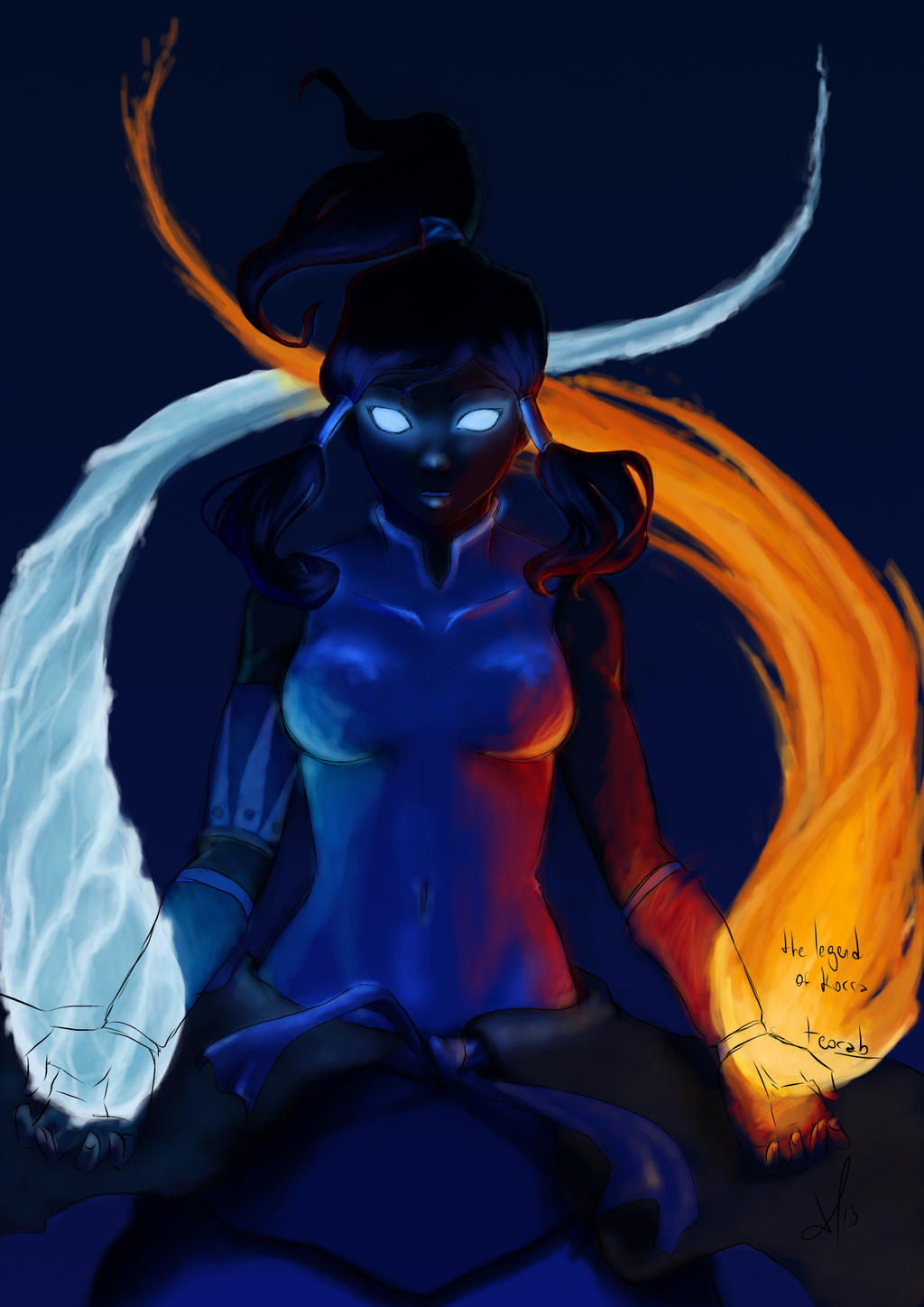 The Legend of Korra dark version by teora