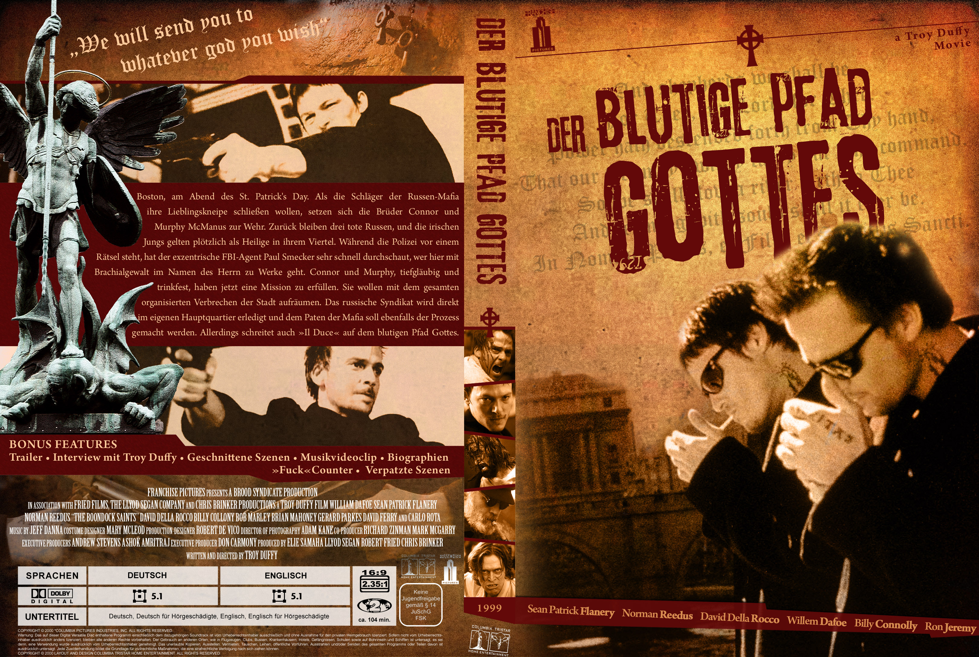 the boondock saints german dvd cover by trickfilmjunkie on trickfilmjunkie the boondock saints german dvd cover by trickfilmjunkie