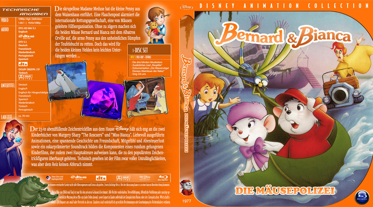 Br Disney Bernard Und Bianca by trickfilmjunkie