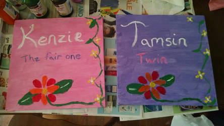 Twins room paintings