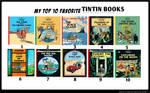 My Top 10 Favorite Tintin Books