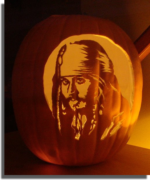 Jack Sparrow Pumpkin by mkuppe