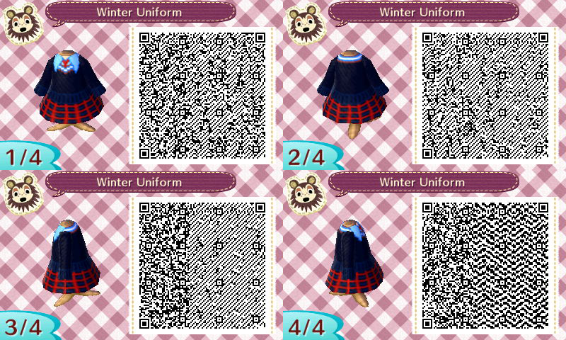 Winter Uniform: Animal Crossing New Leaf QR Code by TofaTheDragonRider