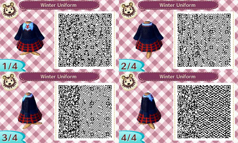 Winter Uniform: Animal Crossing New Leaf QR Code by TofaTheDragonRider
