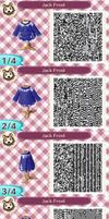 Animal Crossing New Leaf: Jack Frost QR Code by TofaTheDragonRider