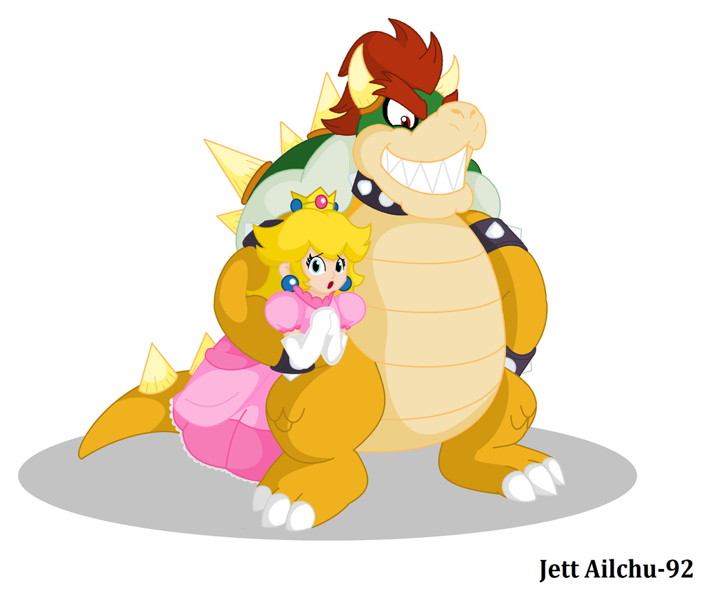 Bowser and Peach by JettAilchu-92 on DeviantArt